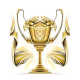 Cup award icon gold Royalty Free Stock Images