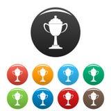 Cup award icon vector simple. Cup award icon. Simple illustration of cup award vector icon for any web design Royalty Free Stock Photos
