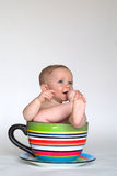 A Cup of Baby Stock Photos
