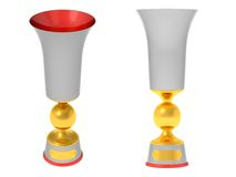 Cup with a ball. The three-dimensional image of a cup on a white background Royalty Free Illustration