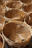Cup of banana leaves for put chinese dessert. Basket shaped Chinese pudding Royalty Free Stock Photos