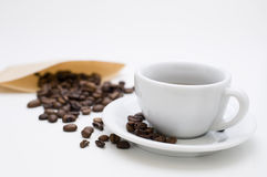 Cup and beans Royalty Free Stock Photography