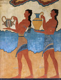 Cup Bearer Fresco from Knossos Stock Image