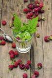 Cup of berry tea Stock Photos