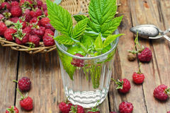 Cup of berry tea Royalty Free Stock Photo