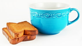 Cup with biscuits Royalty Free Stock Images