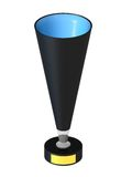 Cup black. The three-dimensional image of a cup on a white background Royalty Free Illustration