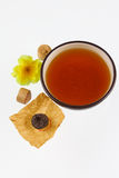 Cup of black Chinese tea Stock Images