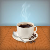 Cup with black classic espresso on the table Royalty Free Stock Photo