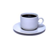Cup of black cofee Stock Images