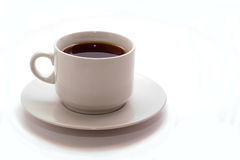 Cup of black cofee Stock Photos