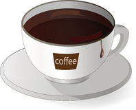 Cup with black coffee Stock Image