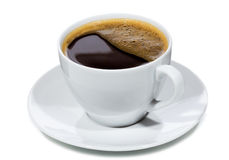 Cup with black coffee Royalty Free Stock Photos