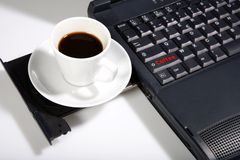 Cup with black coffee Royalty Free Stock Photography