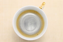 Cup of black coffee from above Stock Photography