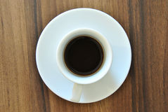 Cup of Black Coffee from Above Stock Images