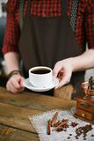 Cup of black coffee Stock Photo