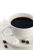 Cup of black coffee close-up Stock Image
