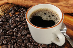 Fresh black coffee Royalty Free Stock Photos