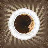 Cup of black coffee -  illustration Royalty Free Stock Photo