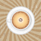 Cup of black coffee -  illustration Royalty Free Stock Image