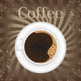 Cup of black coffee -  illustration Stock Images