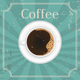 Cup of black coffee -  illustration Royalty Free Stock Photography