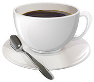 A cup of black coffee Royalty Free Stock Photo