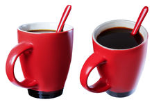Cup of black coffee, isolate Stock Images