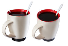 Cup of black coffee, isolate Royalty Free Stock Photo