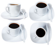Cup of black coffee, isolate Stock Photography