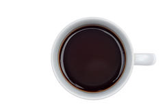 A cup of black coffee isolated royalty free stock photography