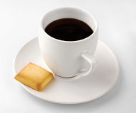 Cup of Black Coffee Isolated Stock Images