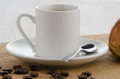 Cup of black coffee Royalty Free Stock Photos