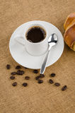 Cup of black coffee Stock Images