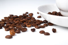 Cup of black coffee with roasted coffe beans 2 Stock Photo