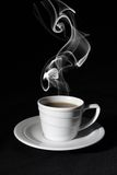 Cup black coffee, steam Royalty Free Stock Image