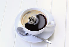 Cup of black coffee Royalty Free Stock Images