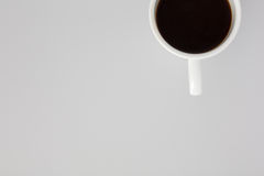 Cup of Black Coffee Shot from Above Stock Image
