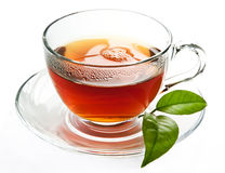 Cup of black, strong tea. Stock Photo
