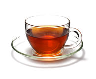 Cup of black tea. Isolated on white background Stock Photo