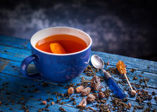 Cup with black tea Stock Photography