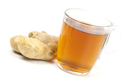 Cup of black tea with ginger Stock Image