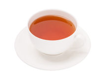 Cup of black tea on white background Royalty Free Stock Photography