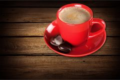 Cup. Black white break top mocca decaf royalty free stock photography