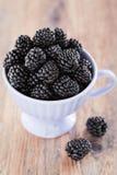 Cup of blackberries Royalty Free Stock Image