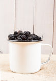 Cup of blackberries Royalty Free Stock Photo