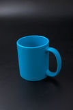 Cup blank thermal transfer on a black background Royalty Free Stock Photos