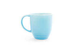 Cup. Blue melamine cup on white background, clipping path Stock Photo