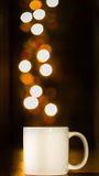 Cup in bokeh background Stock Photo